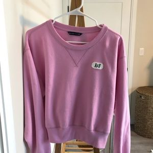 Pink Abercrombie sweater crop top